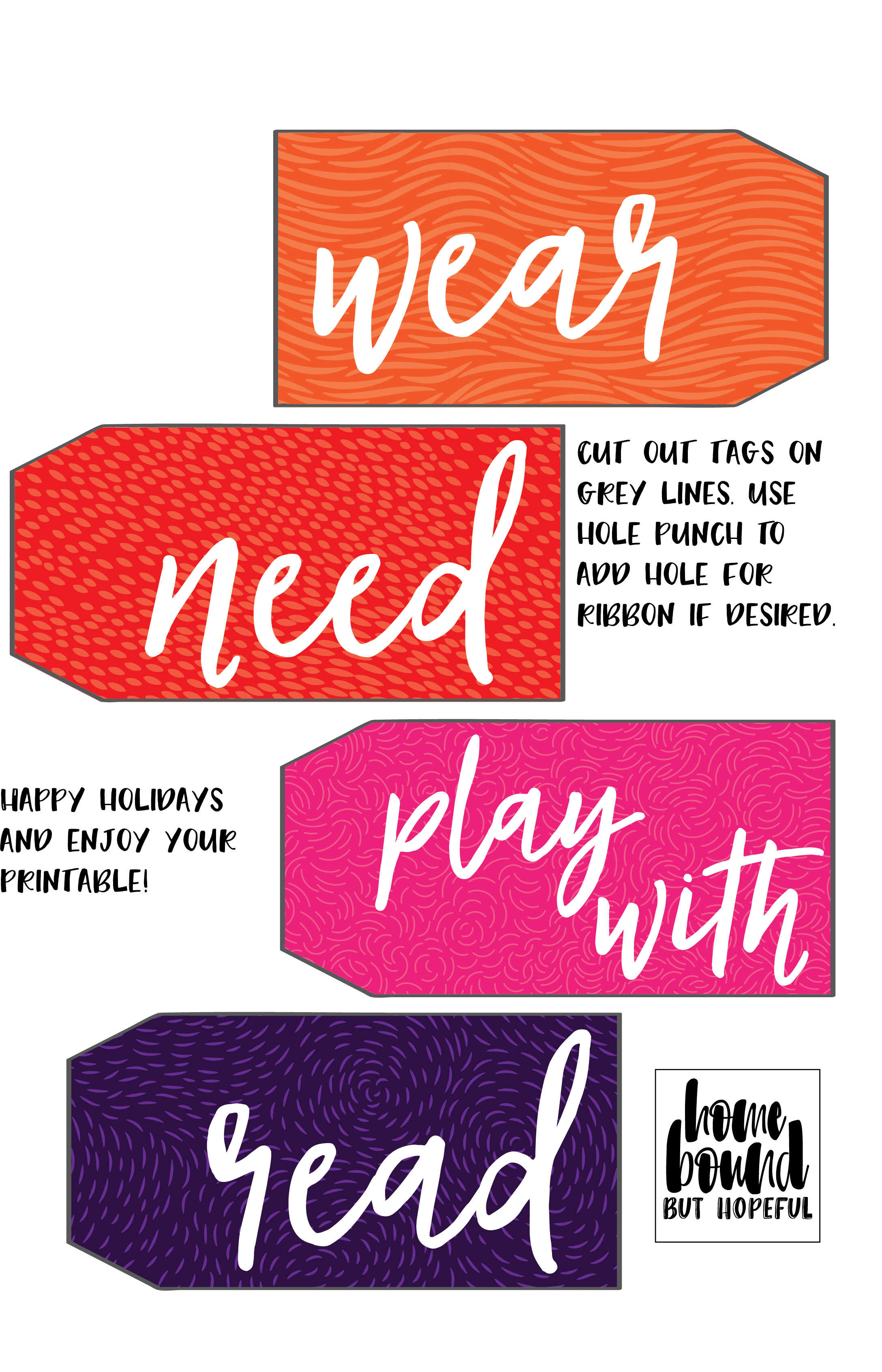 printable tags for gifts