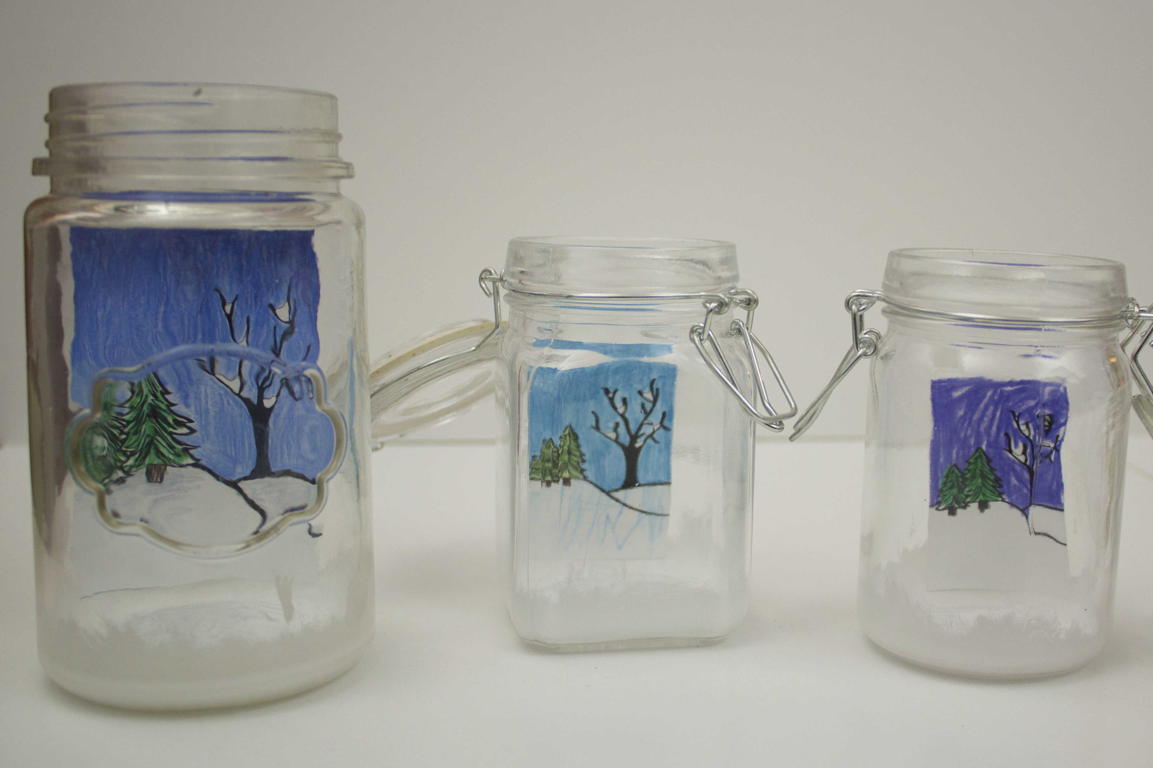 jars with scenery